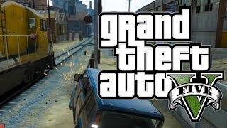 GTA 5 Online NGAKAK ABIS! (2) Tertampar Kereta Apih