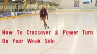 How To Learn Crossovers And Tight Hockey Turn Power Turns