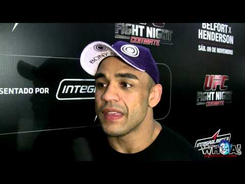 Rafael Feijao Cavalcante Post Fight Interview UFC FN32 in Goiania, Brazil
