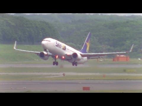 SkyMark Airlines B737 JA737U takeoff @New Chitose Airport rwy01L(新千歳空港)