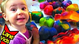 HOW TO MAKE VALENTINE'S DAY HEART CRAYONS!!!   LaneVids & TheFunnyrats