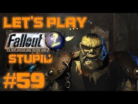 Let's Play Fallout 2 Stupid Character (part 59 - Ugo Smash Beeg Man)
