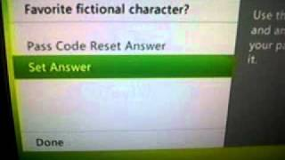 Xbox 360 How To Put A Pass Code On Your Profile