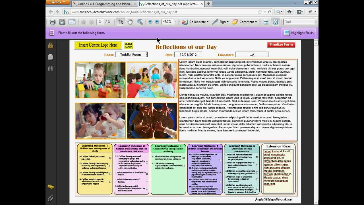 how to make mandate report in child care center