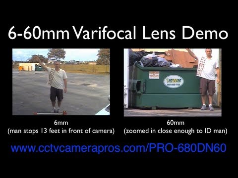 6-60mm Varifocal Lens Comparison using Box CCTV Surveillance Camera
