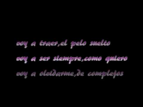 gloria trevi-pelo suelto{lyrics]letra