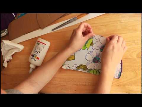 Como hacer una caja de carton forrada con tela youtube - Como hacer cuadros de tela ...