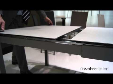 Mobliberica Mesalina Tisch mit Keramik Abdeckplatte zum ausziehen