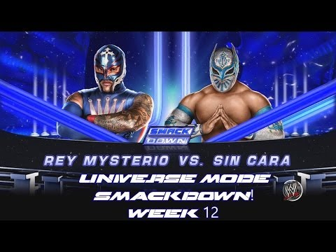 WWE 2K14 - Universe Mode SmackDown Week 12 - Rey Mysterio vs Sin Cara