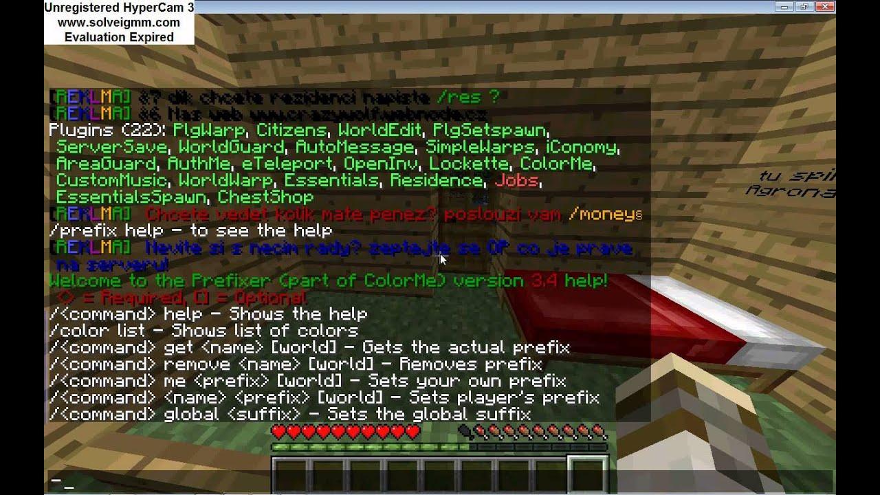 как сдедать префикс в чате minecraft #7