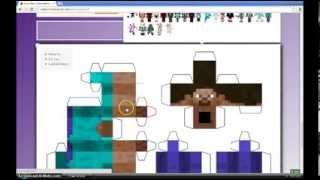 Como Hacer Muñeco De Papel De Minecraft Con Tu Skin