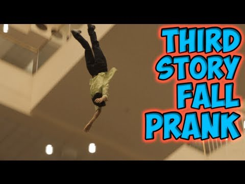 Thumbnail of video Third Story Fall Prank