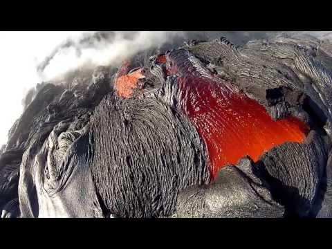 12 10 11 Lava Flow Hawaii Kilauea Volcano Lava Flow GoPro Hero 2