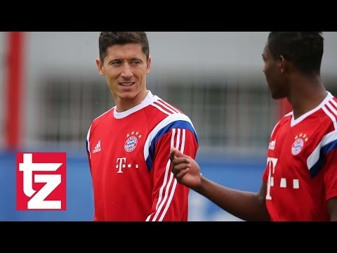 Robert Lewandowski: Erstes Training beim FC Bayern - First Training Session Bayern Munich