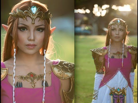 Princess Zelda Make-up Transformation,