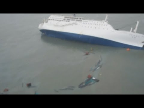 South Korea ferry: Footage of passengers moments before ship sinks
