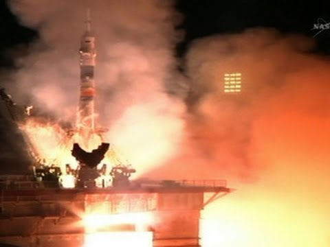 Soyuz rocket begins journey to the International Space Station