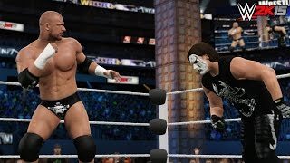 "WWE 2K15 Wrestlemania 31 - ""Triple H vs Sting"" - The Game vs The Vigilante!"
