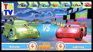 Cars: Fast as Lightning NEON RACING! Komodo 5/6 vs Lightning McQueen