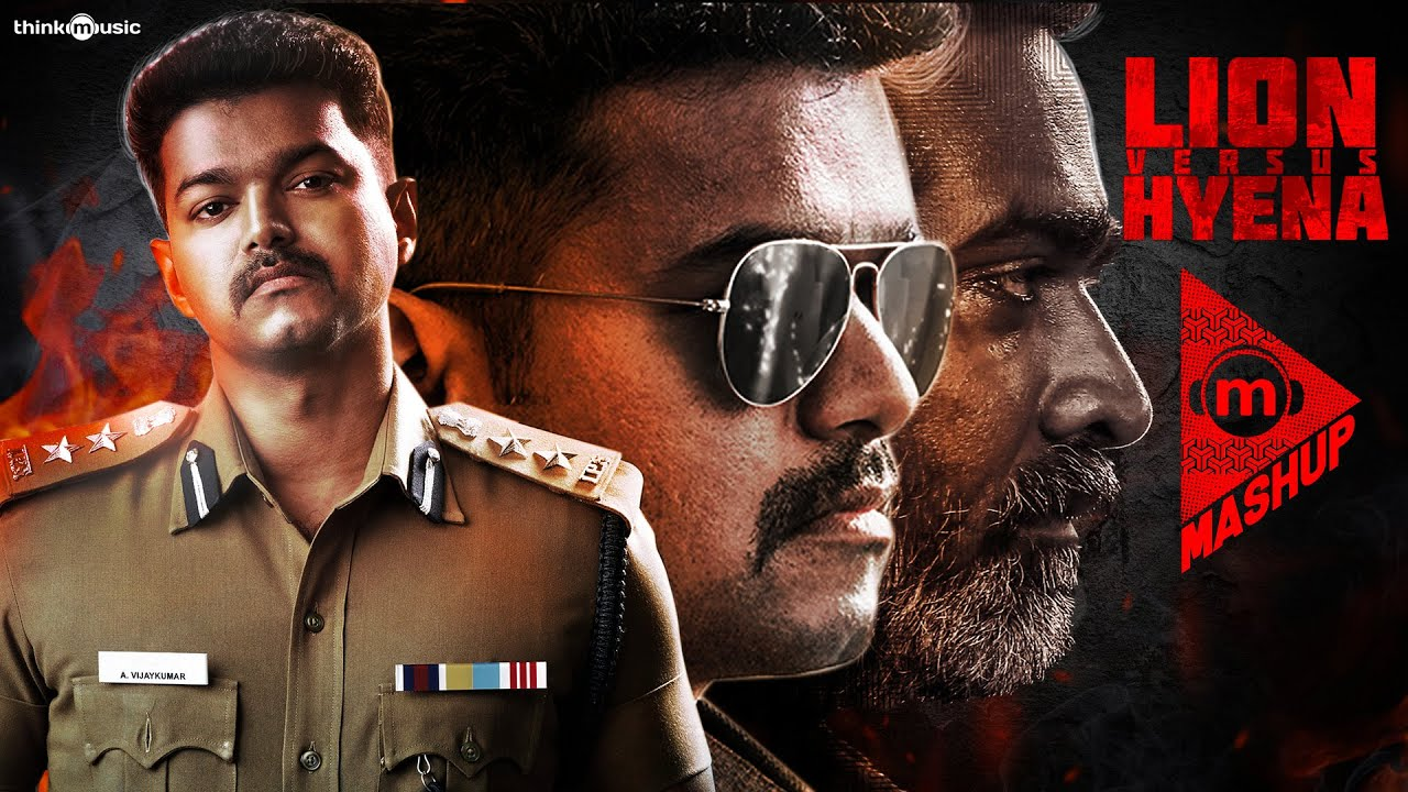 Think Mashup - Lion vs Hyena Feat. Thalapathy Vijay & Vijay Sethupathi   Hiphop Tamizha #TheriVedha