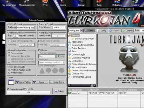 Criando um server no Turkojan 4 [