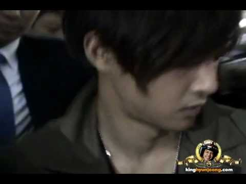 121029 KIM HYUN JOONG fancam - Incheon Itnl' Airport (Arrival from Changsha, CHN)