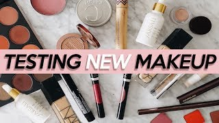 TESTING NEW MAKEUP: NEW NARS Foundation, Morphe 24G & More! | Jamie Paige