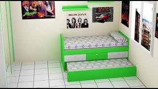 Cama para habitación juvenil
