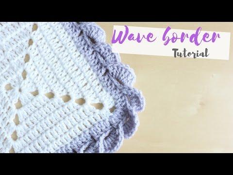 CROCHET: Wave border tutorial | Bella Coco