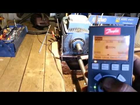 Danfoss VLT HVAC test driving an Asea 15kW engine on a barge (Dutch flat ship)
