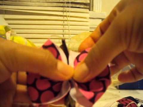 Artes y Manualidades:Como hacer Moños de liston para niñas (bebes) Paso a Paso!