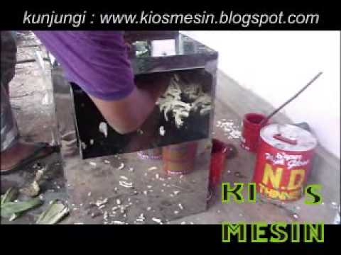 mesin perajang, potong, pengiris stick pisang, kentang, singkong