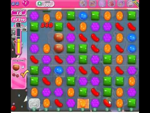 How to beat Candy Crush Saga Level 101 - 3 Stars - No Boosters - 201