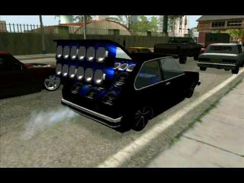 Racha de som com carros Brasileiros equipados no Gta San Andreas