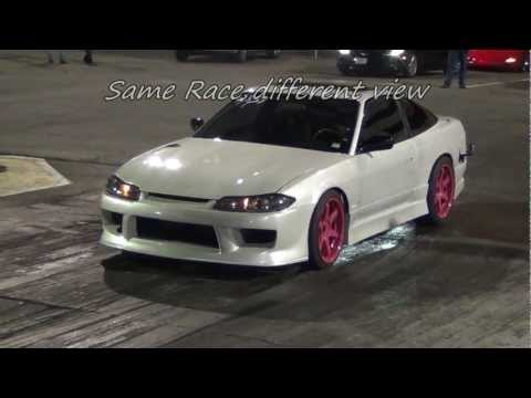 LS1 T56 Heads and Cam 1991 240SX 1/4 Drag Racing at GMP 11.92@126.36 2.04 60'