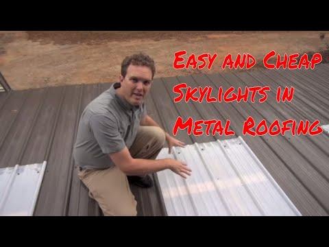 Installing Skylights In Metal Roofing Youtube