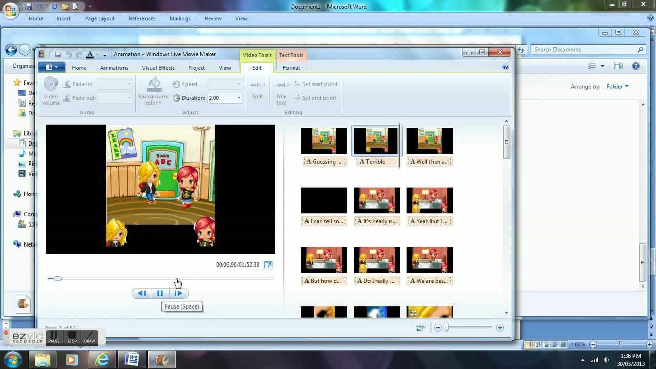 ... fantage animation using paint and windows movie maker part 2 - YouTube