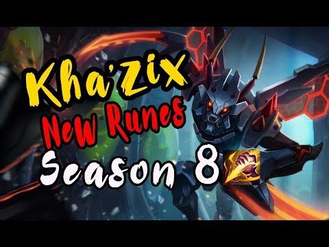Kha'zix jungle, Guide new rune season 8 - League of legends