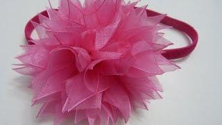 Como hacer moños flores para el cabello