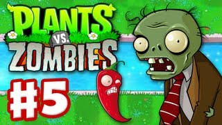 Plants Vs. Zombies Gameplay Walkthrough Part 5 World 3