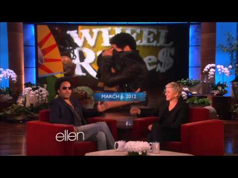 Lenny Kravitz on Ellen talks 'The Hunger Games: Catching Fire'