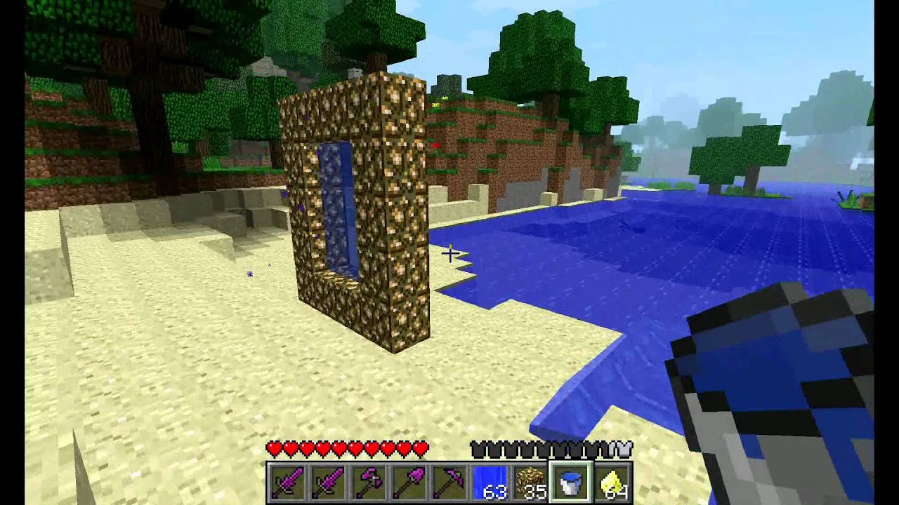on minecraft how to make a portal