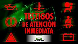 """Colores en el cuadro de instrumentos """"LAS DE ATENCIÓN INMEDIATA"""" (rojos)"""
