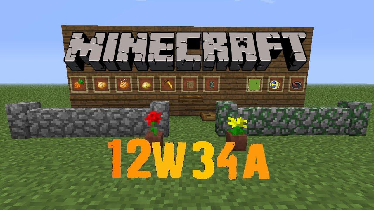 minecraft snapshot 12w34a golden carrot item frames