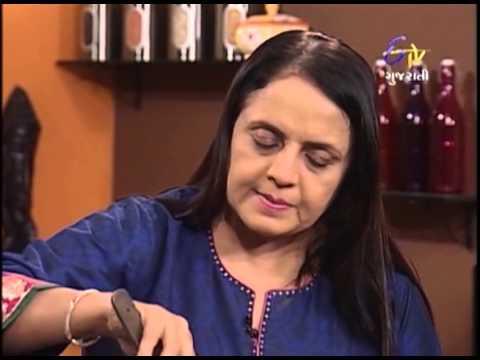 Rasoi Show - રસોઈ શો - ચીસ દુમ્પ્લીંગ સ્પીનાચ રીસ, પણ કાક રીસ રોલ્લ & ગ્રીન ગ્રાપે સલાડ