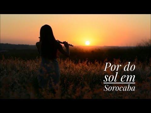 Por do sol ao som de flauta transversal. Sorocaba - SP