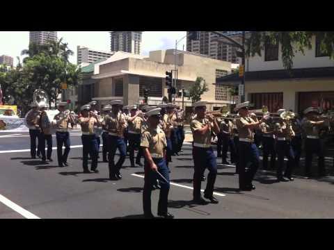 Honolulu Parade Kamehameha 2013 - USMC