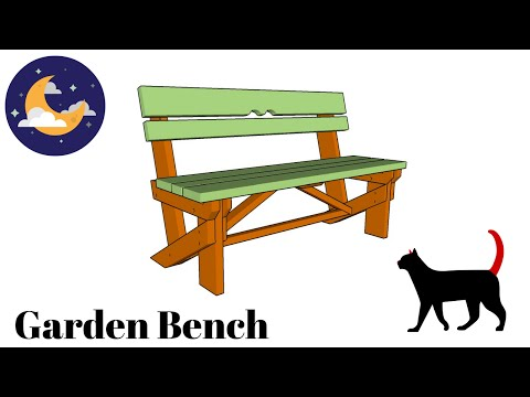 Free garden bench plans - YouTube