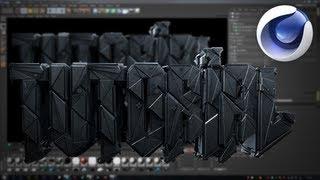 Cinema 4D Tutorial: Sick 3D Text Effect