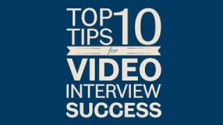 Top tips: Video Interviews